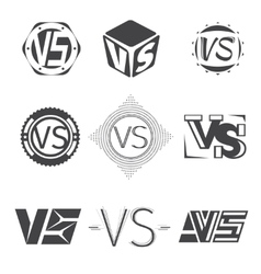 Versus letters logos Competition icons set vector image