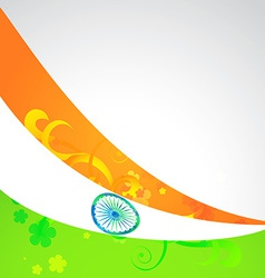 wave style indian flag vector image
