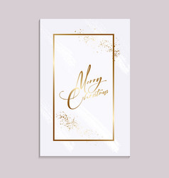 xmas card with gold sparkle and messy gold brush vector image
