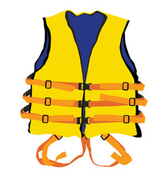 Yellow life jacket vector