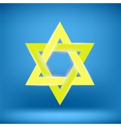 Yellow Star of David vector