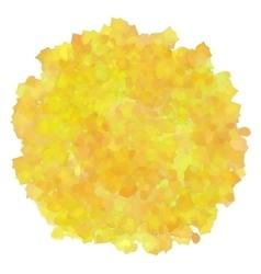 Yellow watercolor spot vector image