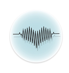 black heart beats vector image