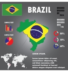 Brazil Country Infographics Template vector image vector image