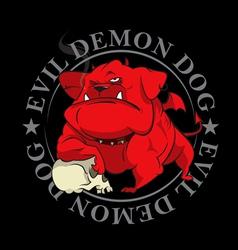 devil dog mascot vector image