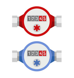 Water meter icon set vector