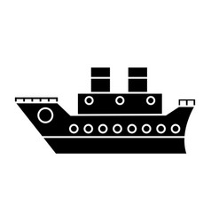 boat cruise travel sea pictogram vector image