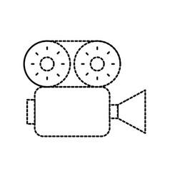 Film camera recorder movie reel tape vector