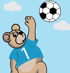 Soccer Bear vector image