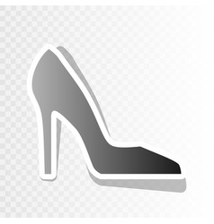 woman shoe sign new year blackish icon on vector image
