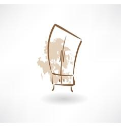 cupboard grunge icon vector image