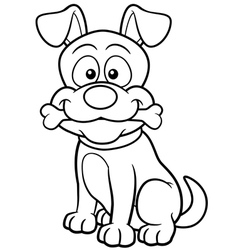 Dog outline vector image vector image
