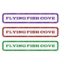 Flying fish cove watermark stamp vector