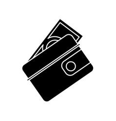 wallet dollar money cash pictogram vector image vector image