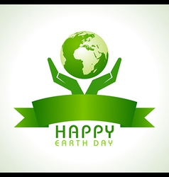 Creative Happy Earth Day Greeting vector image
