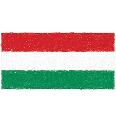 Hand drawn of flag of hungary vector