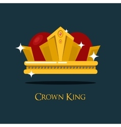 Pope tiara or king queen royal crown icon vector image