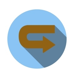 Return arrow icon flat style vector image vector image