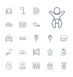 22 small icons vector