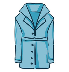 A blue coat with robe or color vector
