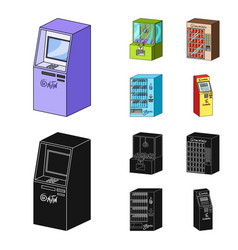 a game machine a ticket sales terminal an vector image