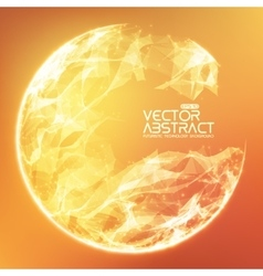 Abstract demolished sphere background vector