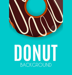 abstract donut background vector image