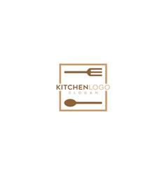 Abstract kitchen restaurant logo design vector