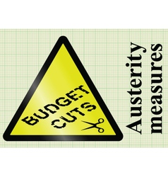 Austerity measures and budget cuts vector image