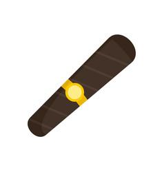 black cigar of cuba icon flat style vector image