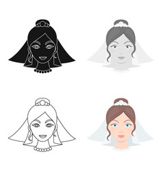Bride icon for web and vector