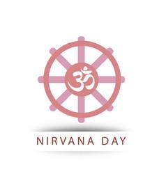 Buddhist celebration of nirvana day vector