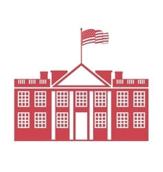 Building governmental usa icon vector