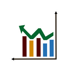 Business graph and chart statistics financial vector