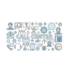 call center modern concept horizontal vector image