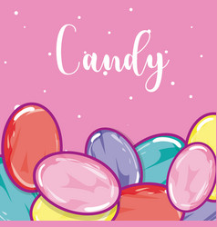 candy snack concept vector image