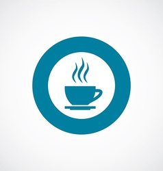 cap of tea icon bold blue circle border vector image