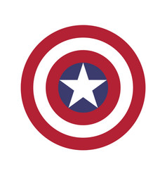 Captain americas shield symbol in flat style vector