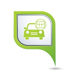Cars transmission GREEN pointer vector