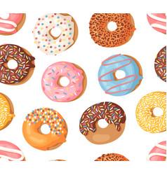 cartoon donuts hand drawn vector image
