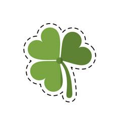 cartoon st patricks day clover lucky icon vector image