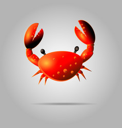 colorful red crab shell crab icon isolated on vector image