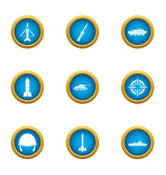 Counteract icons set flat style vector