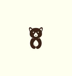 Cute animal honey bear with drop water logo vector