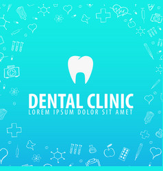 Dental clinic medical background health care vector