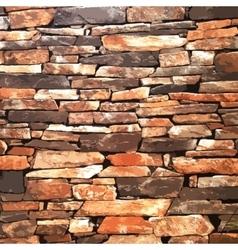 design element Ancient brick wall texture vector image
