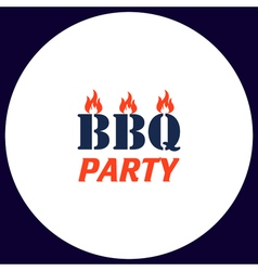 Distressed BBQ computer symbol vector