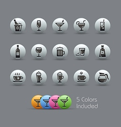 Drinks Icons Pearly Series vector