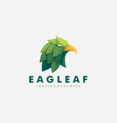 eagle leaf design template vector image