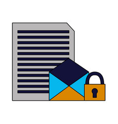 Email document letter security data vector